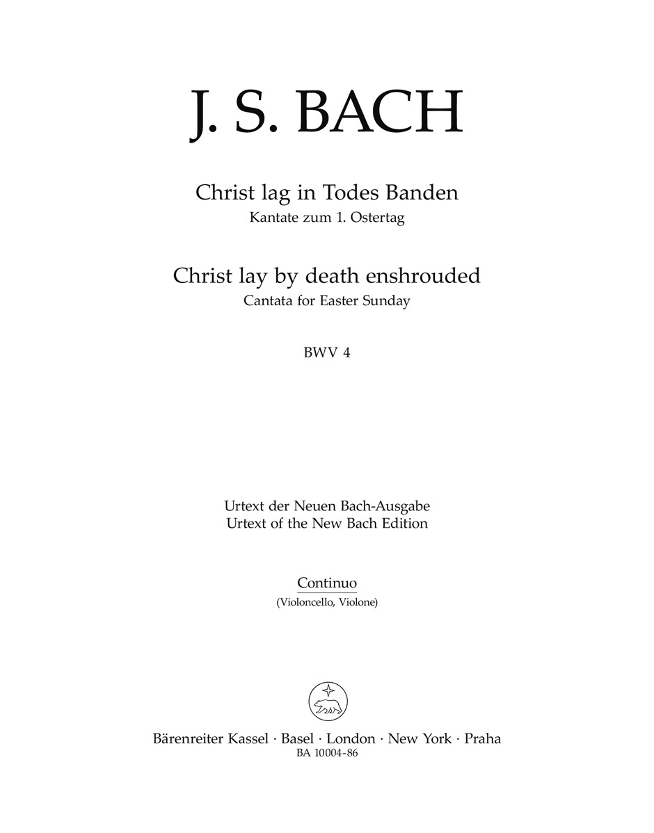 Cantata No.4 Christ lag in Todes Banden (BWV 4) (Cello/Bass)