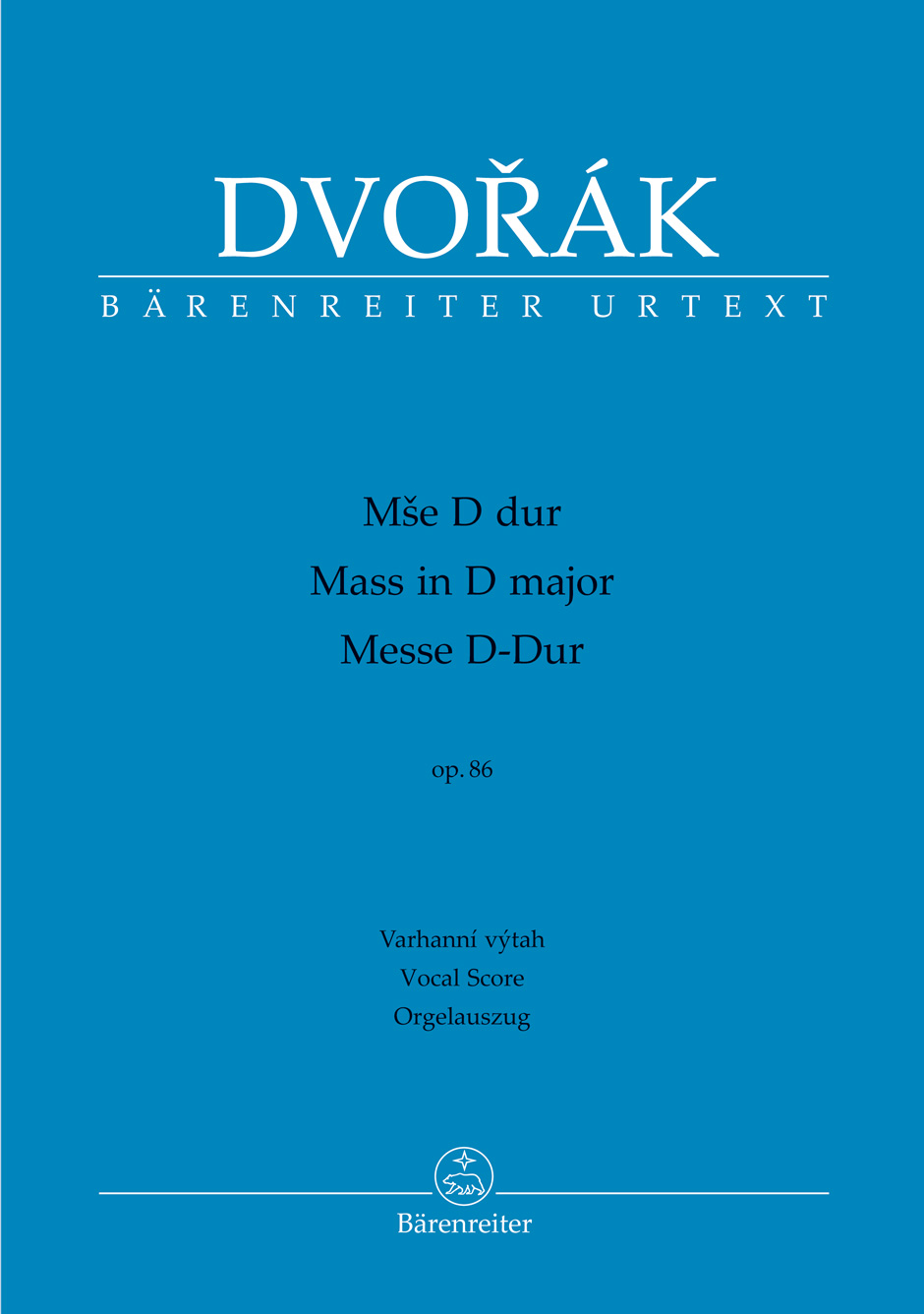 Mass in D major Op.86 Organ Version (Vocal Score)
