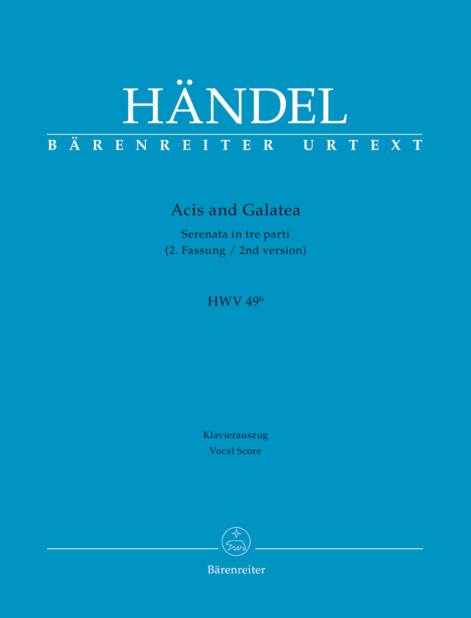 Acis and Galatea (HWV 49b, 2nd version) Vocal score