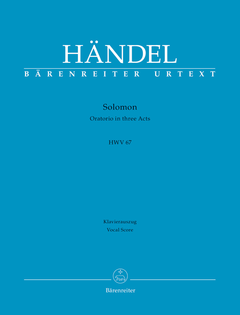 Solomon (HWV 67) (Vocal Score)
