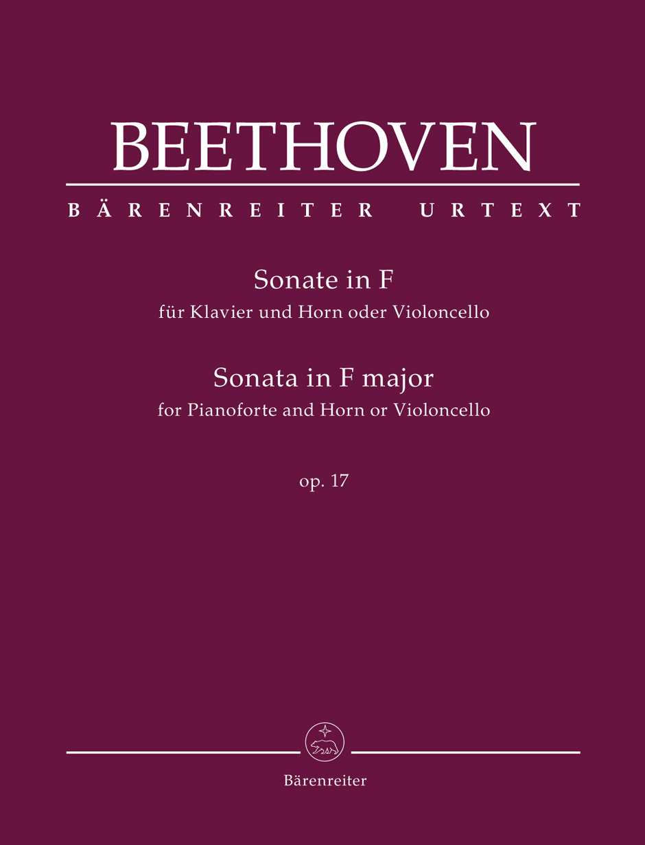 Sonata for Pianoforte and Horn or Violoncello in F major Op.17