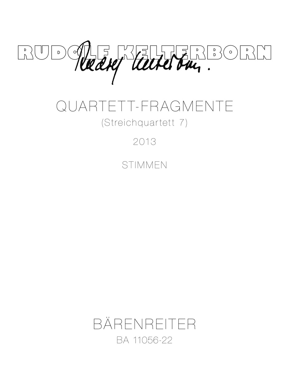 Quartet Movement (String Quartet No.7) Parts