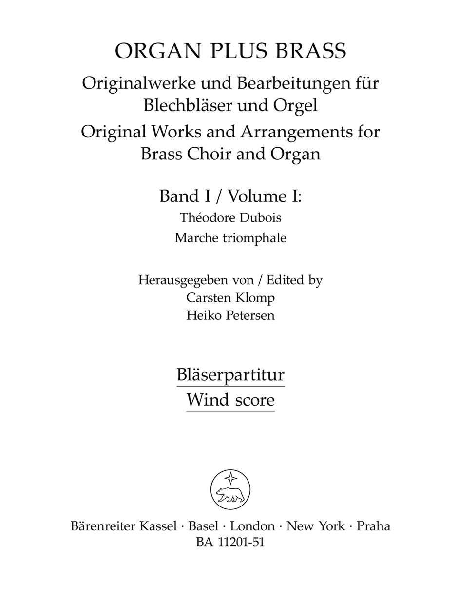 organ plus brass, Volume I (Wind Score in C)