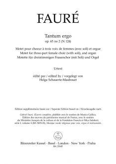 Tantum ergo Op.65/2 N 124