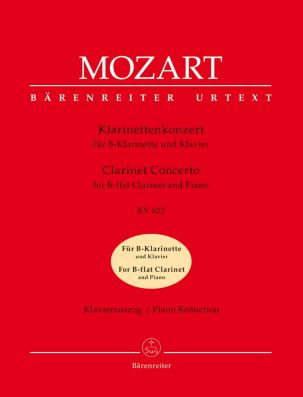 Concerto for Clarinet in A major (K.622) (Clarinet in B-flat & Piano)