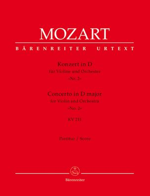 Concerto for Violin No.2 in D major (K.211) (Full Score)