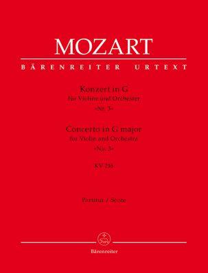 Concerto for Violin No.3 in G major (K.216) (Full Score)