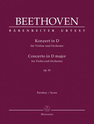 Concerto for Violin in D major Op.61 (Full Score)