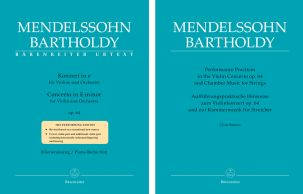 Concerto for Violin in E minor Op.64 (Violin & Piano & Performance Practices Book)
