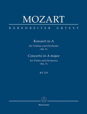 Concerto for Violin No.5 in A major (K.219) (Study Score)