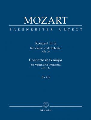 Concerto for Violin No.3 in G major (K.216) (Study Score)