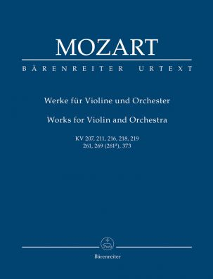 Works for Violin and Orchestra (K.207, 211, 216, 218, 219, 261, 269, 373) (Study Score)