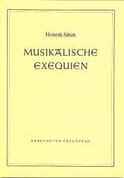 Musical Exequien, Complete (SWV 279-28l) Full Score