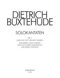 Also Hat Gott Die Welt Geliebet, Solo Cantata No. 5