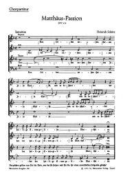 Saint Matthew Passion (SWV 479) Choral Score