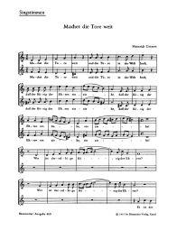 Machet Die Tore Weit/Der Tag, Der Ist So freudenreich Choral Score