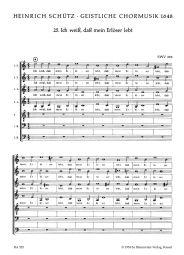 Sacred Choral Music 1648, No. 25: Ich weiss, dass mein (SWV 393)