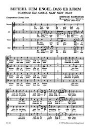 Befiehl dem Engel, dass er komm (Command the Angels, that they come) (BuxWV 10) (Choral Score)