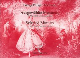 Selected Minuets (TWV 34) for Treble Recorder & Basso continuo