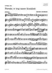 Fuerwahr, Er Trug Unsere Krankheit (Behold, He Bore All Our Infirmities) Bassoon
