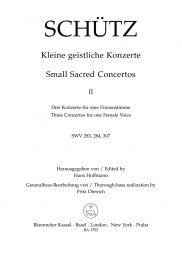 Short Sacred Concertos Book 2: Bringt her dem Herren; Ich danke dem Herren; Was hast du vewirket (SW
