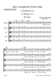 Heut Triumphiert Gottes Sohn Choral Score