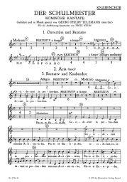 Der Schulmeister (Choral Score)