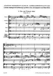 Die mit Tränen säen: Motet No.3 from Israelsbrünnlein