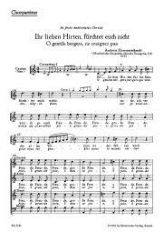 Ihr lieben Hirten, fürchtet euch nicht - O gentils bergers, ne craignez pas (Choral Score)