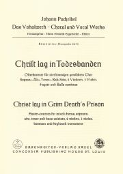 Christ lag in Todesbanden (Christ lay in grim death's prison) (Full Score)
