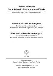 Was Gott Tut, Das Ist Wohlgetan (What God Ordains is Always Good) Score
