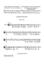 Was Gott Tut, Das Ist Wohlgetan (What God Ordains is Always Good) Choral Score