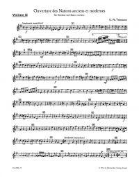 Overture Des Nations Anciens et Modernes (TWV 55: G4) Violin II