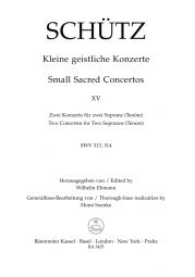 Short Sacred Concertos Book 15: Bone Jesu; Verbum caro factum (SWV 313 & 314)