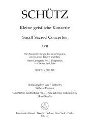 Short Sacred Concertos Book 17: Hodie; Rorate; Veni sancte (SWV 315, 322, 328)