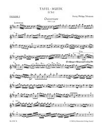 Overture and Conclusion in D major (TWV 55:D1)	(Violin I)