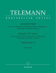 Quartet for two Flutes, Recorder, Violoncello and Basso continuo in D minor (TWV 43:d1)