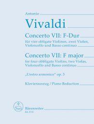 """Concerto VII in F major from """"L'Estro armonico"""" Op.3 (4 Violins & Piano)"""