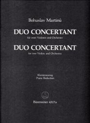 Duo Concertant for Two Violins H 264 (Two Violins & Piano)
