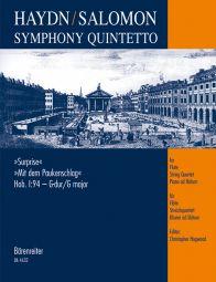 Symphony Quintetto after Symphony No.94 in G major (Surprise) (Hob.I:94) arr. Salomon (Score & Parts