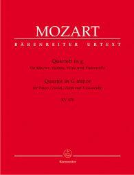 Piano Quartet in G minor (K.478) (Score & Parts)