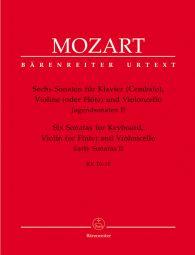 Six Sonatas for Keyboard, Violin (Flute) and Violoncello (K.10-15) (Score & Parts)