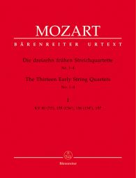 Thirteen Early String Quartets Volume 1 Nos 1-4