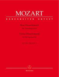 Three Divertimenti for String Quartet (K.136-138)