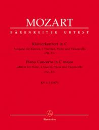 Concerto for Piano No.13 in C major (K.415) (Chamber Edition, Score & Parts)