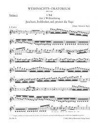 Christmas Oratorio (BWV 248) (Violin I)