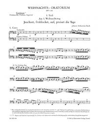 Christmas Oratorio (BWV 248) (Cello/Bass/Bassoon)