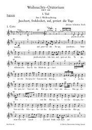 Christmas Oratorio (BWV 248) (Voice Part Soprano)