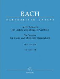 Six Sonatas Volume 1 (BWV1014 -1016) (Violin & Piano)