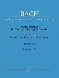 Six Sonatas Volume 2 (BWV 1017-1019) (Violin & Piano)